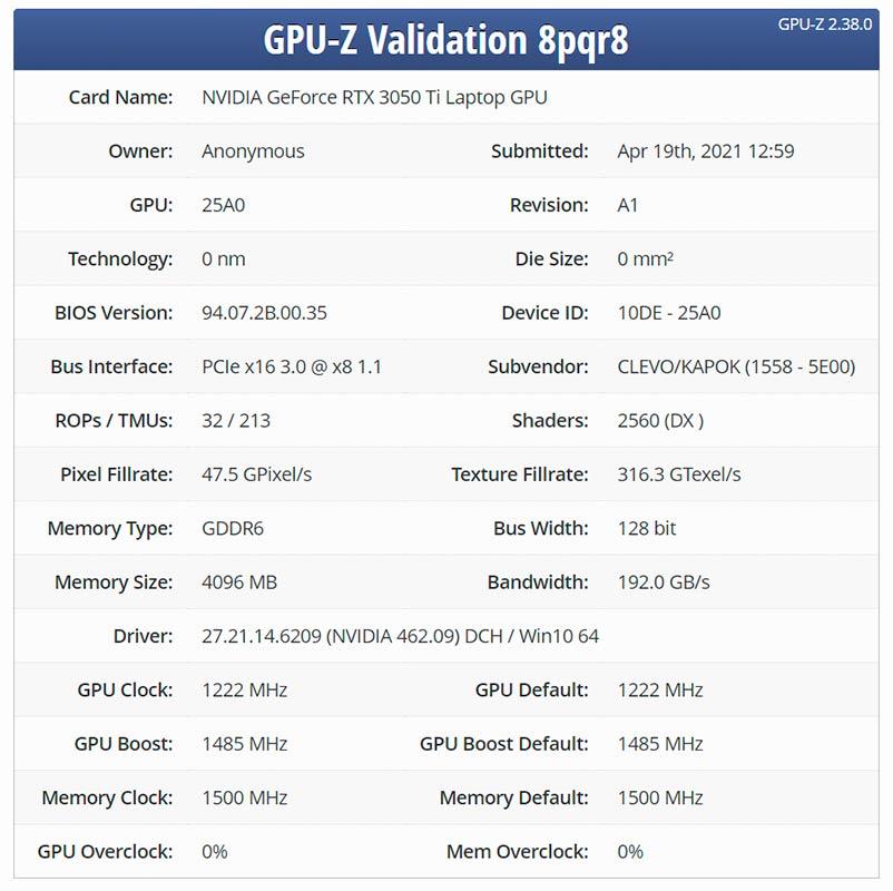 GPUs RTX 3050 y RTX 3050 Ti filtración