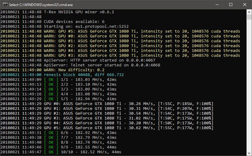 software minería ethereum