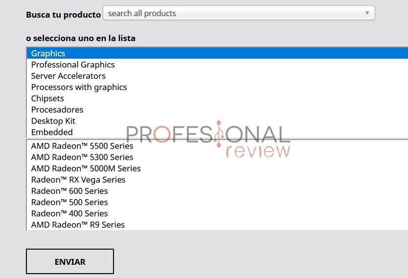 Actualizar drivers AMD manualmente