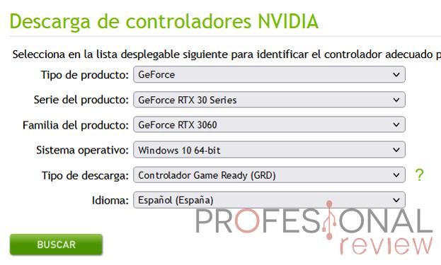 Actualizar drivers NVIDIA manualmente