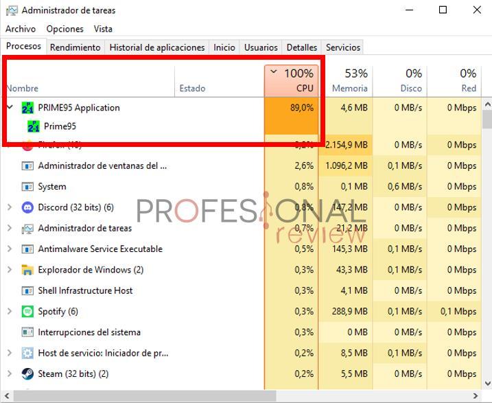 Consumo alto CPU ruido portatil
