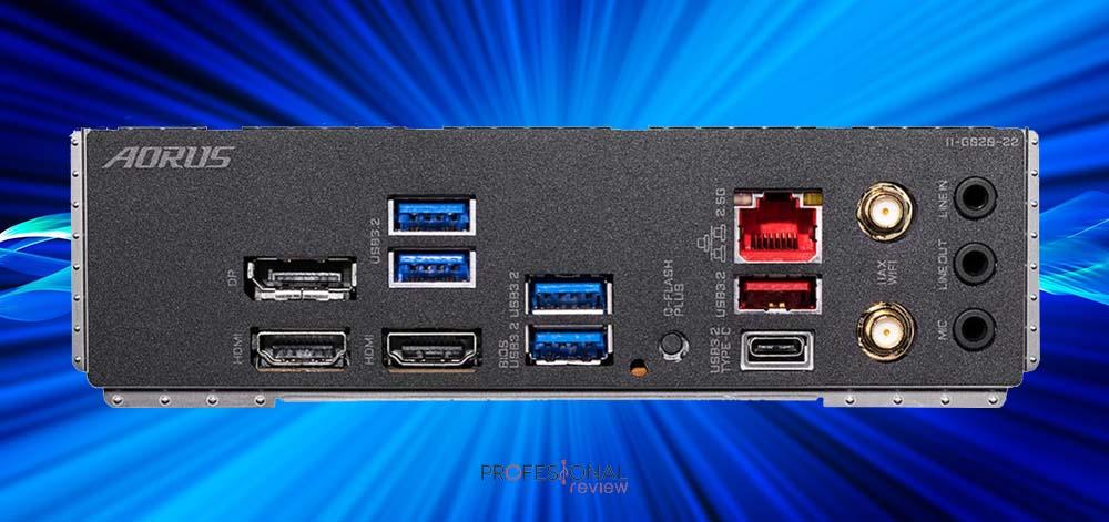 GIGABYTE X570SI AORUS Pro AX puertos