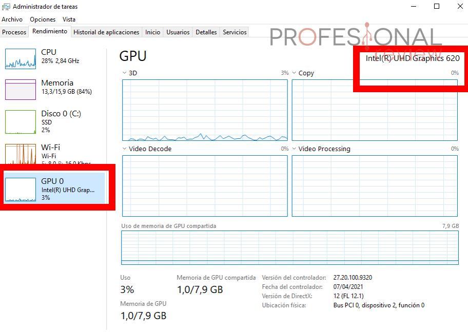 Saber fabricante tarjeta grafica Windows 10