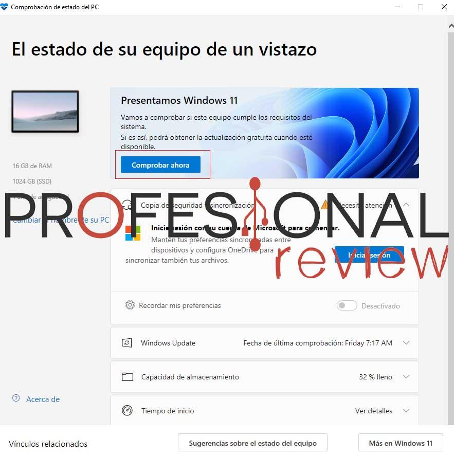 comprobación compatibilidad windows 11