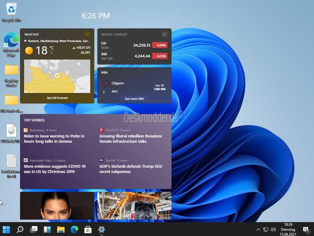 feed noticias windows 11