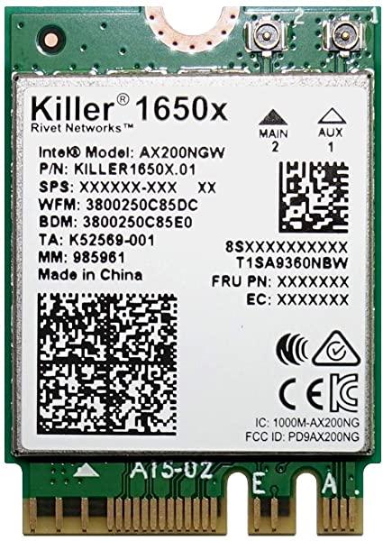 tarjeta red intel killer 1650x