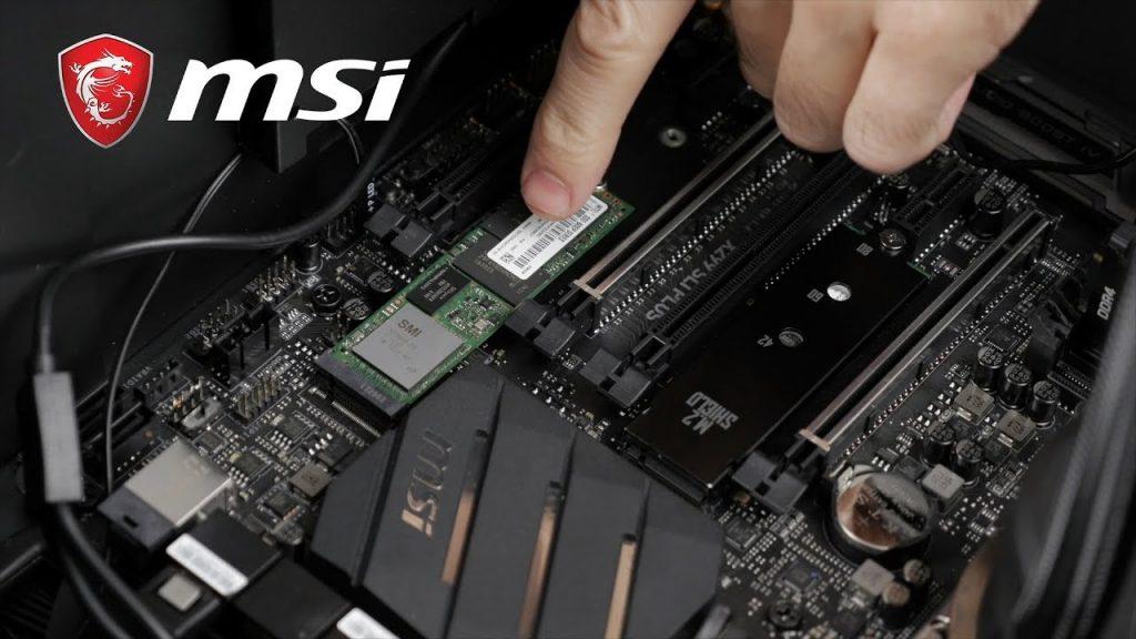 instalar ssd m.2 en placas base msi b560
