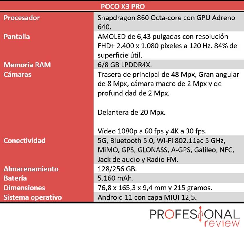 POCO X3 Pro características técnicas