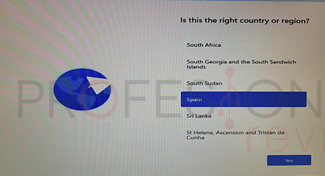seleccionar región windows 11