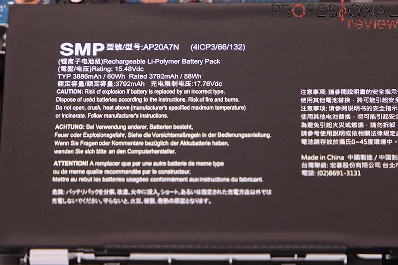 Acer Predator Triton 300 SE Autonomía