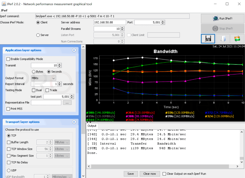 Asus TUF Gaming AX5400 Jperf
