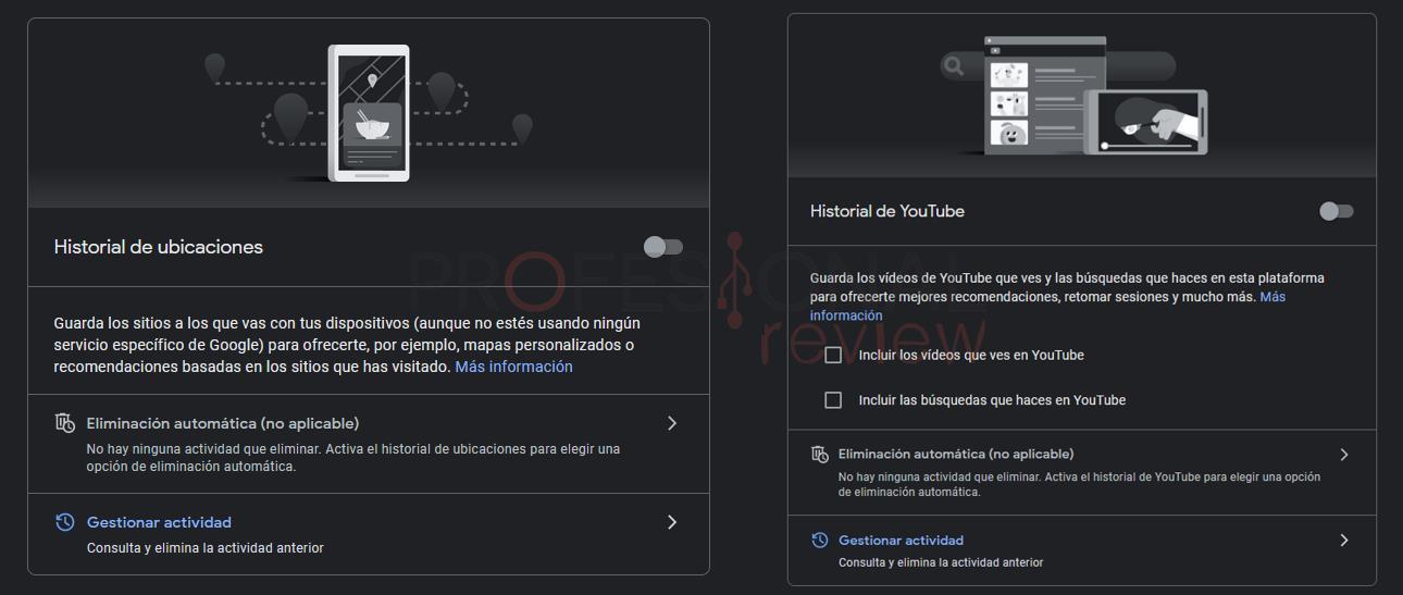 Eliminar datos y borrar historial de Google
