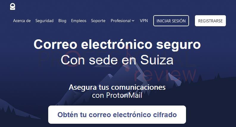 ProtonMail Correo electrónico seguro