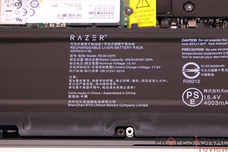 Razer Blade 14 Autonomía