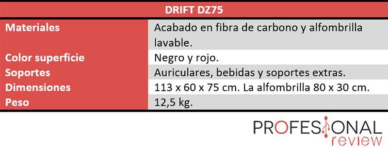 Drift DZ75 características técnicas