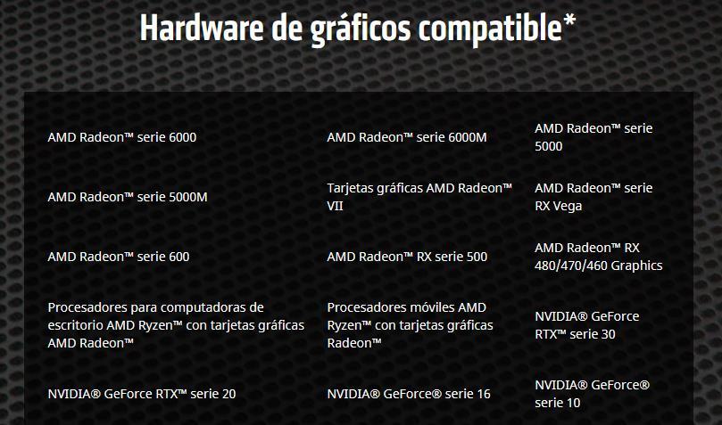 AMD FSR Hardware compatible