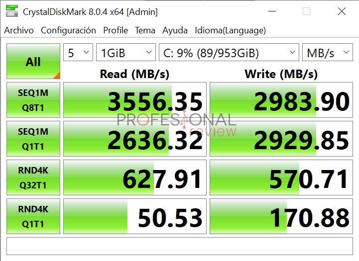 CrystalDiskMark Asus ZenBook Duo