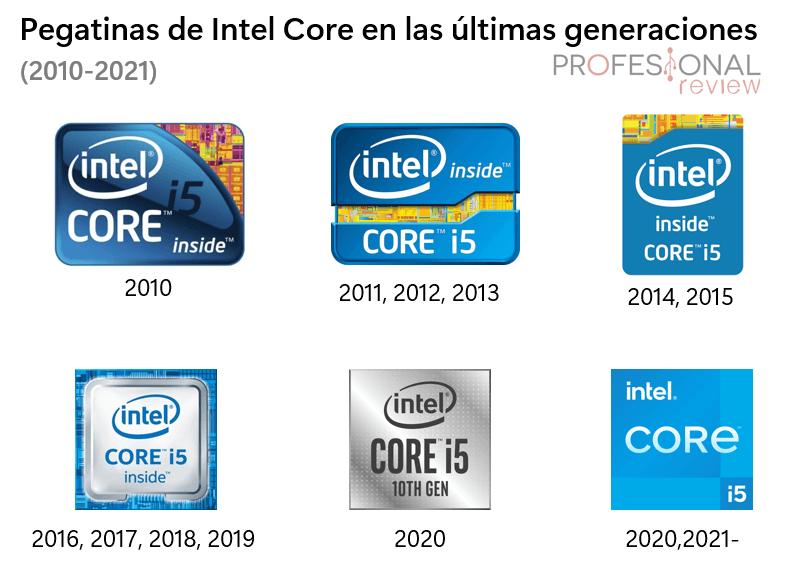 Pegatinas portatil Intel Core