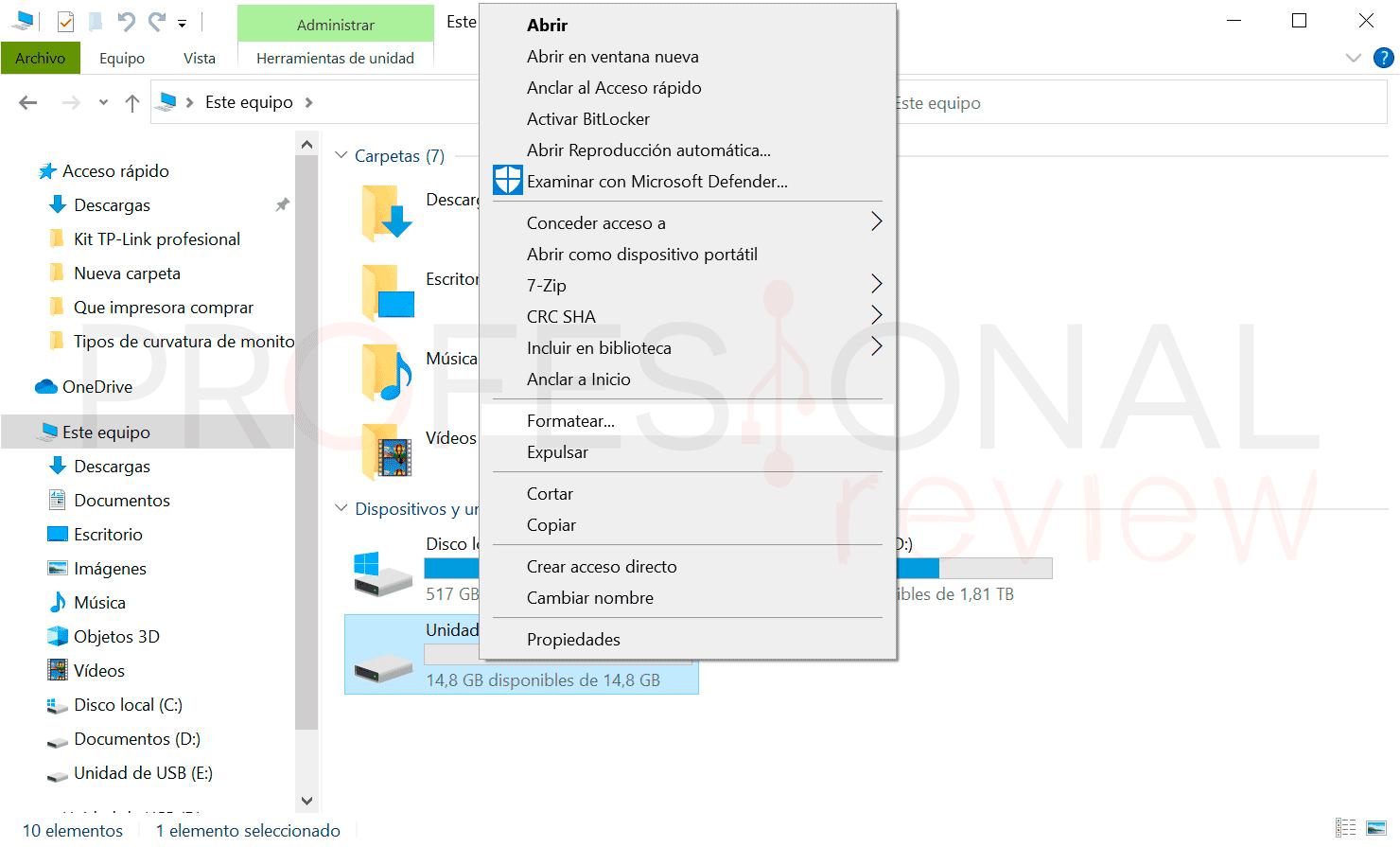 Pendrive NTFS o FAT32 Formatear