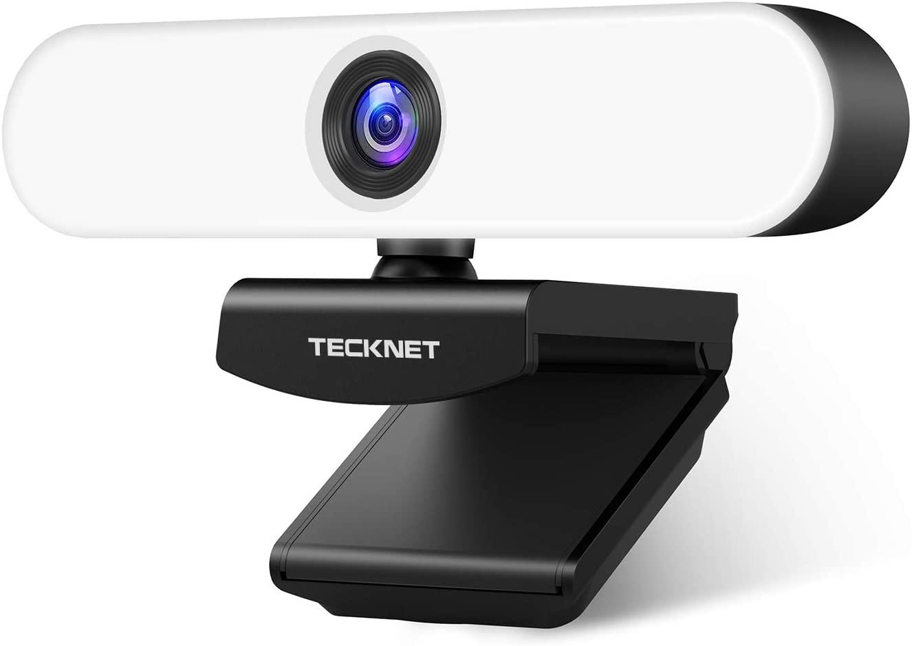 Webcam barata Tecknet con anillo de luz