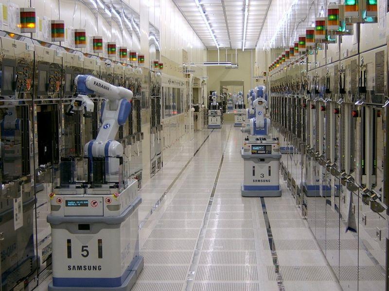 produccion chips samsung