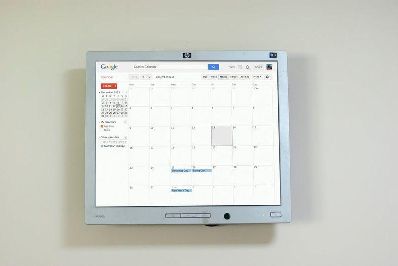 calendario digital cocina