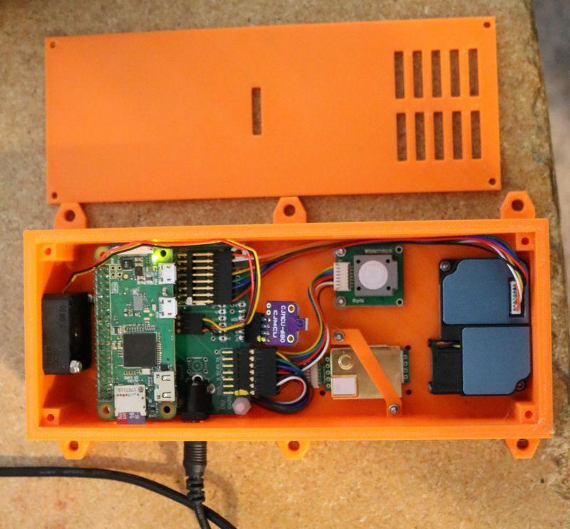 sensor calidad aire raspberry pi