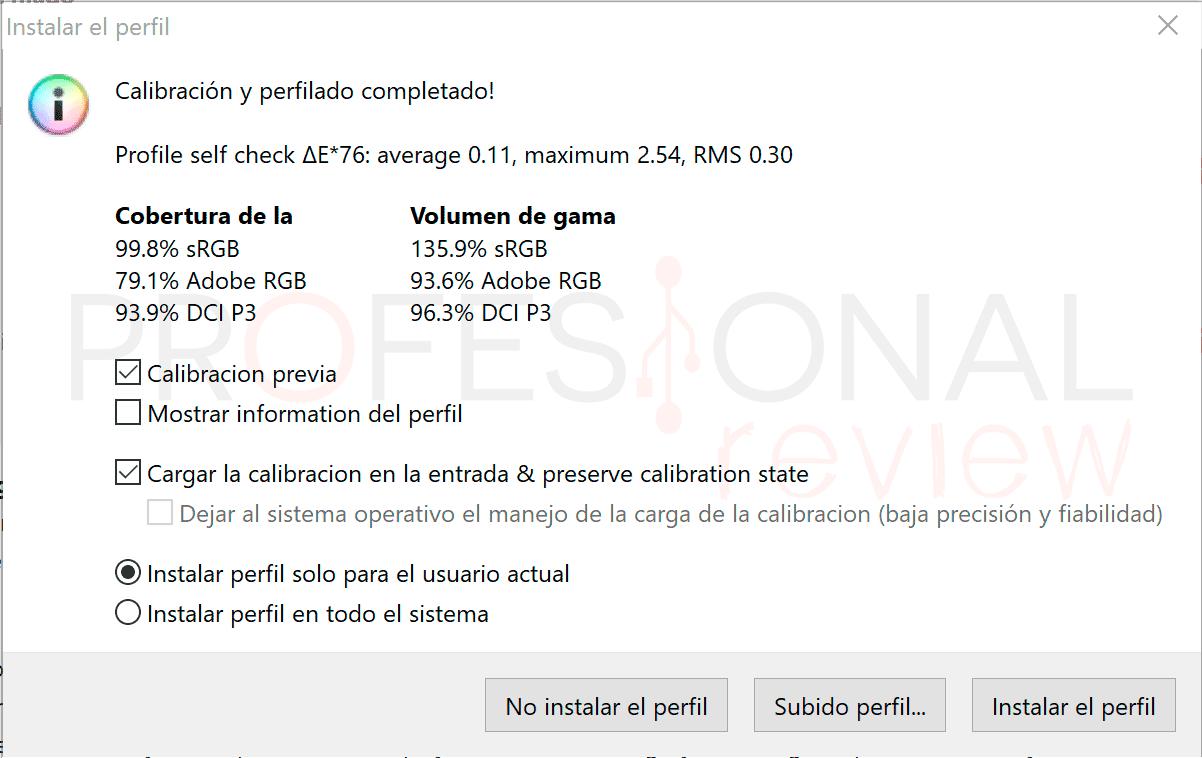Acer Predator Helios 500 2021 Calibración