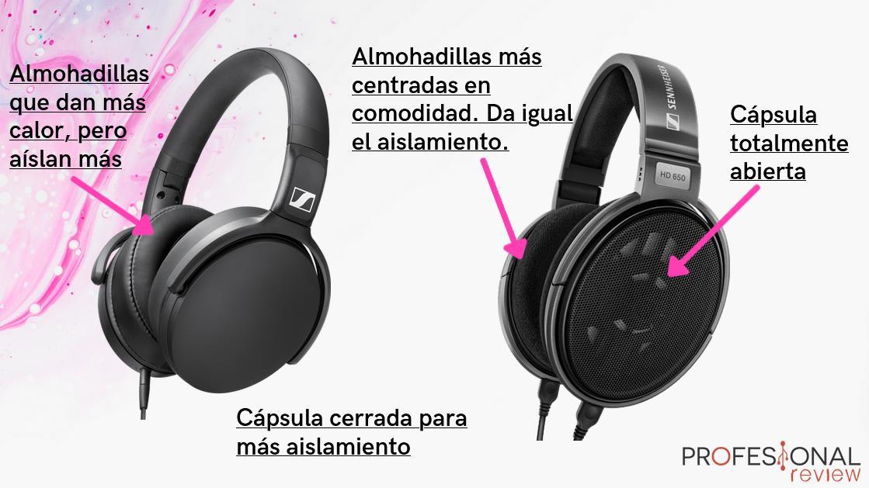 Almohadillas auriculares con cancelación de ruido pasiva