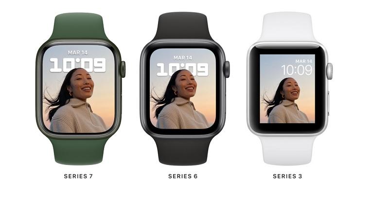 Apple Watch Series 7 evolucion panel