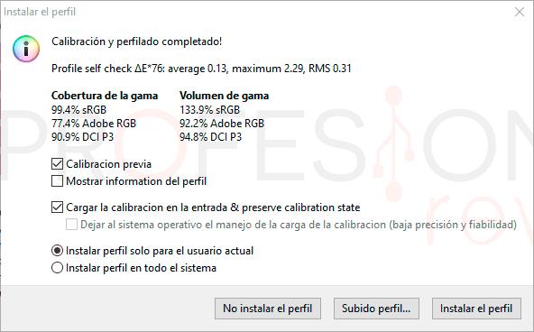Asus ROG Strix XG279Q Calibración