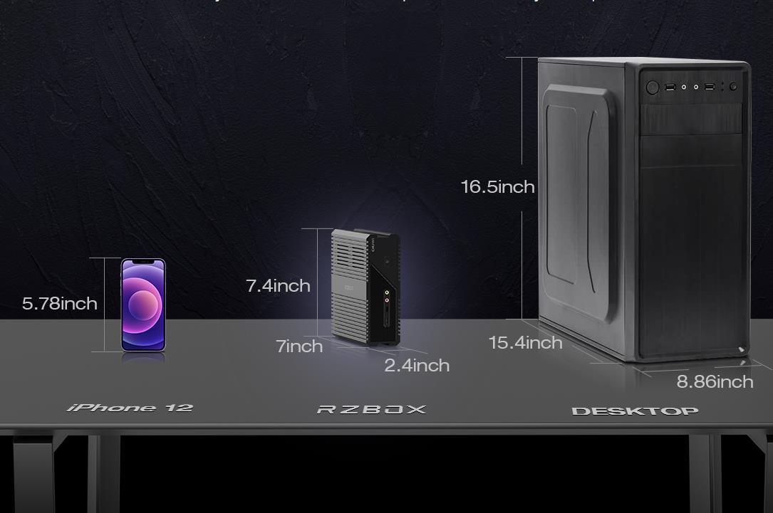 Chuwi RZBOX tamaño