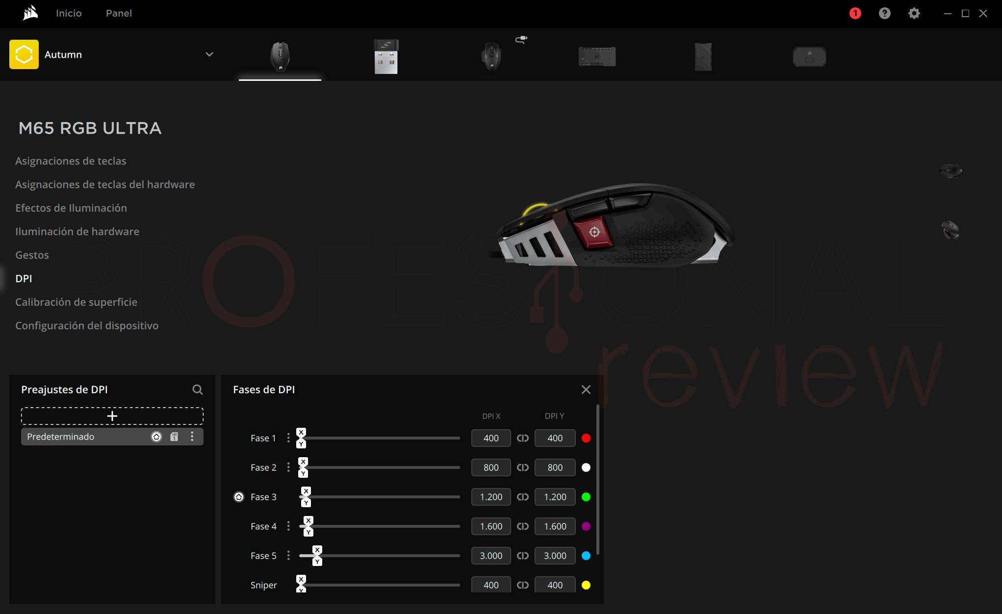 Corsair M65 RGB Ultra Software