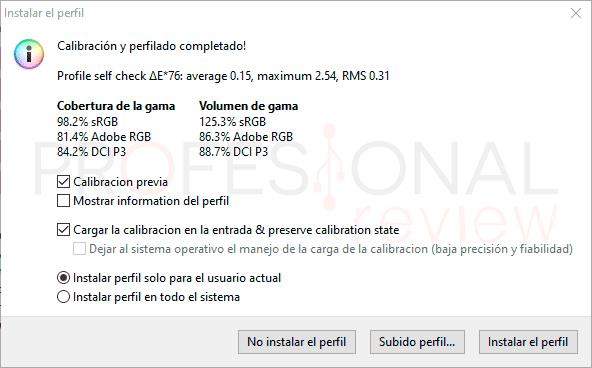 Gigabyte M32Q Calibración