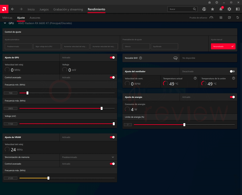 Gigabyte RX 6600 XT Gaming OC PRO Overclocking