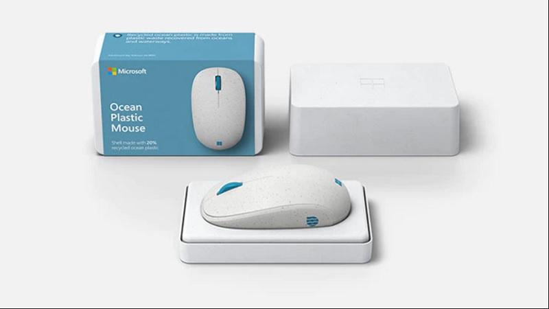 Microsoft Ocean Plastic Mouse diseño