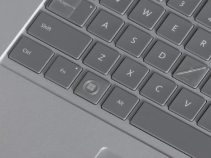 Microsoft pegatinas teclado accesibilidad