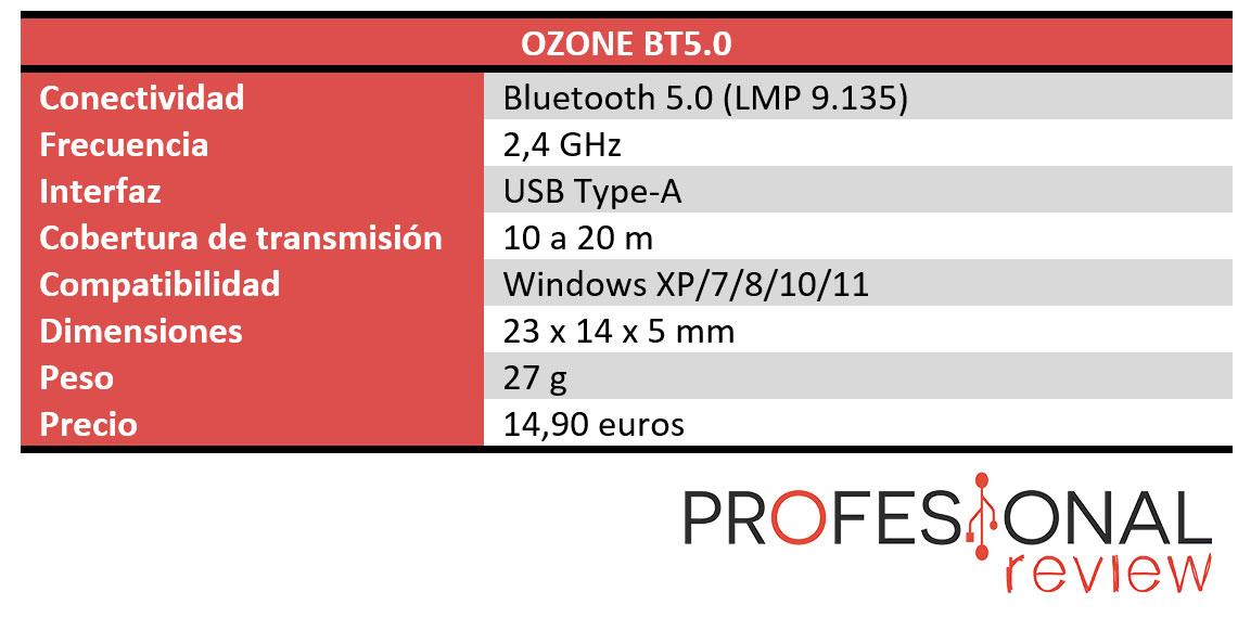 OZONE BT5.0 Características