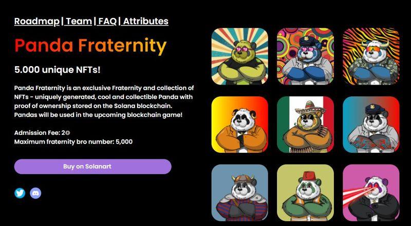 nft panda fraternity