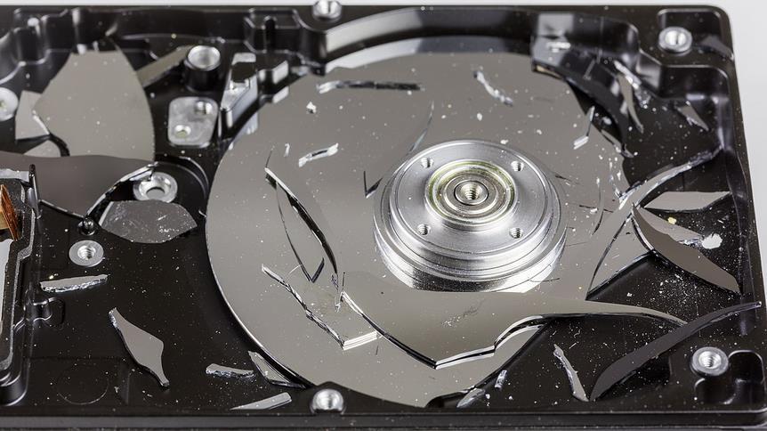 Plato de disco duro dañado