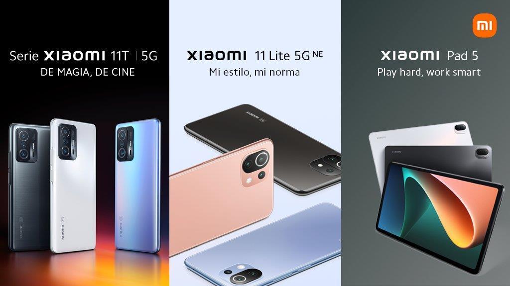 Xiaomi Nuevos productos MI 11T, Mi 11 Lite, Xiaomi Pad 5