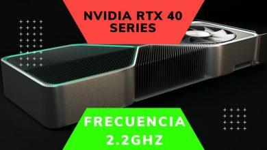 frecuencia boost 2.2ghz nvidia rtx 40