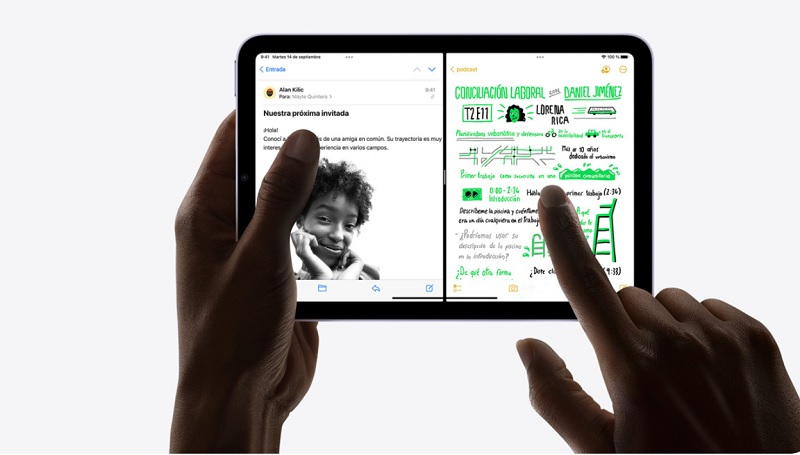 iPad Mini 2021 pantalla diseño