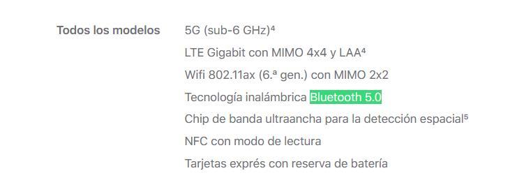 iPhone 13 Bluetooth 5.0