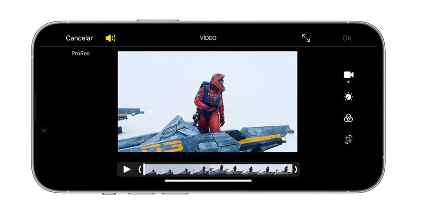 iPhone 13 Pro edicion de video