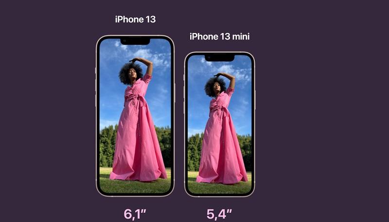 iPhone 13 y iPhone 13 Mini pantalla