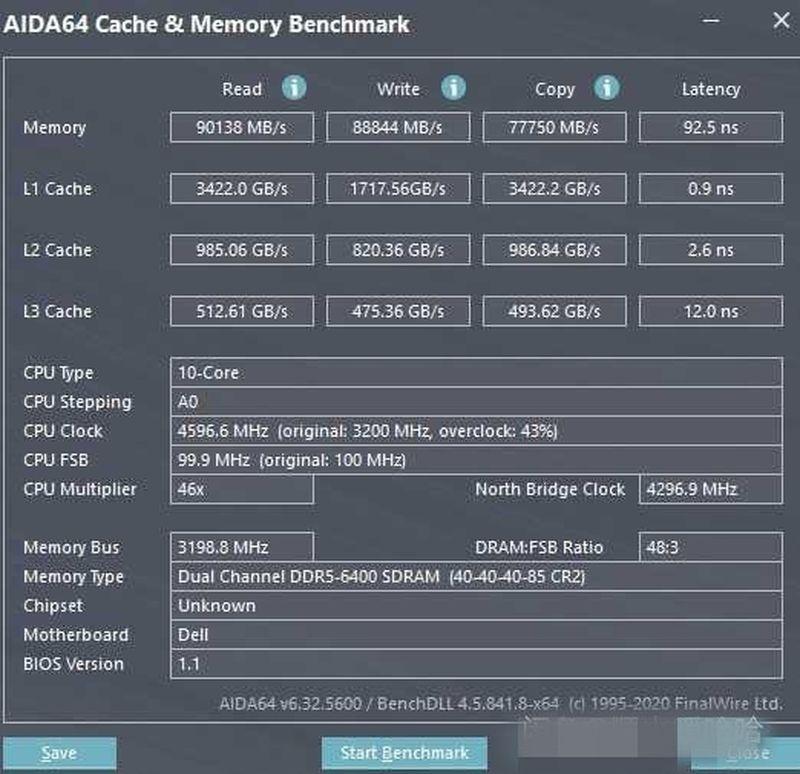 benchmark ddr5 procesador intel core