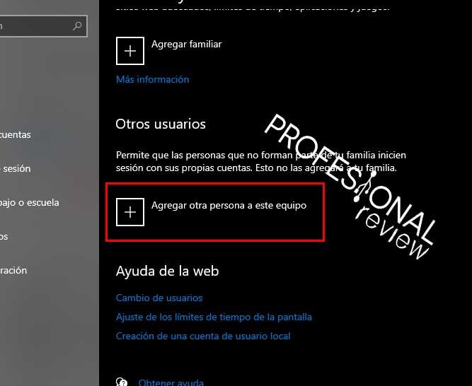 crear cuenta usuario windows 10