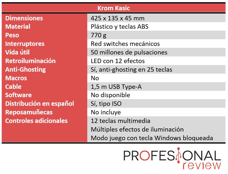 Krom Kasic Características