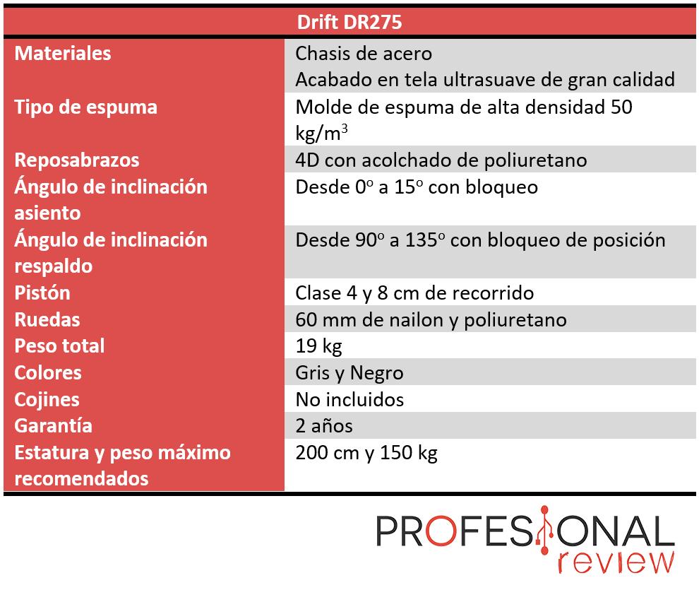 Drift DR275 Características